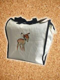 Bambi Large Canvas Tote Bag 重量:211g