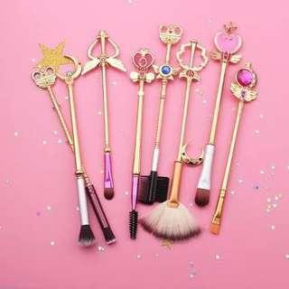 ON-HAND Sailormoon makeup brush set