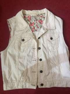 Dirty White Forever21 Vest