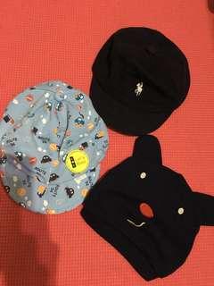 嬰兒帽3頂