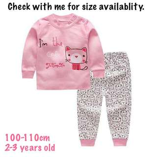 Girl long sleeve pajamas