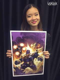 Infinity War Art print by Jim Cheung , Signed