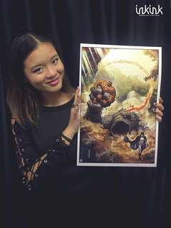 Marvel two in one art print by Jim Cheung ,Signed
