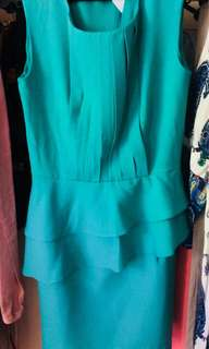 Aqua Green color with back zip & inner lining