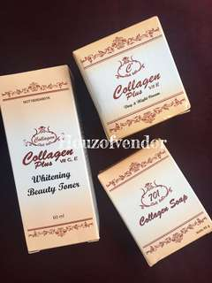 Collagen Plus Whitening Beauty Toner Set.