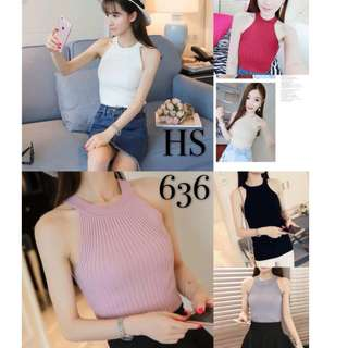 HALTER KNITTED BLOUSE 636#