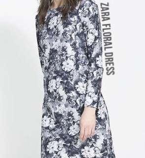 zara inspired monochrome floral dress