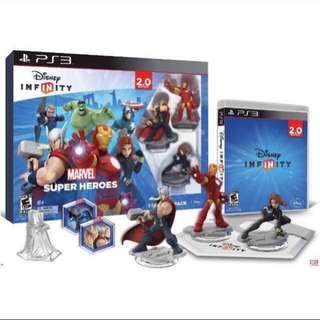 BRAND NEW : PS3 Disney Infinity Marvel Starter Pack