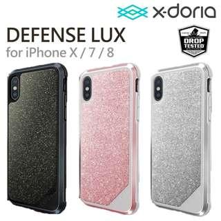 X-doria 道端 Defense LUX 手機殼 iPhone X (10) 貼鑽 美國著名配件品牌 3米防跌