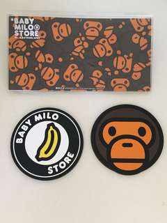 a bathing ape baby milo store 膠杯墊