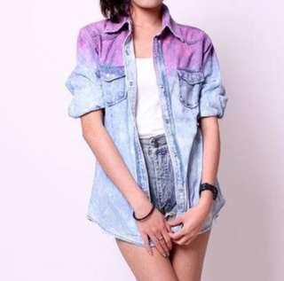 dyed denim outerwear