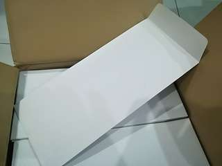 "White envelopes 4"" x 9"""