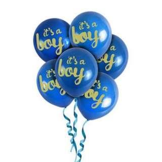 "🚚 (IN STOCK)Baby Shower Balloon-""It's a boy"""