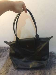 Longchamp Metallic SLH - BLACK
