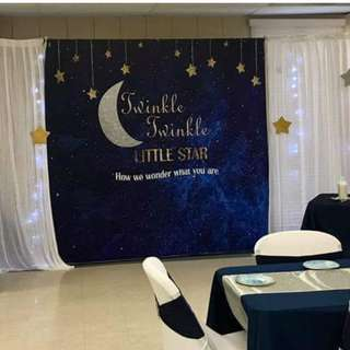 Twinkle Stars #Customize Custom BANNER Personalised Personalized Backdrop Background