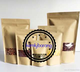 [READY STOCK] Kraft Paper Zip Lock Bag