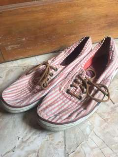 KEDS Sneakers (pink and white stripes)