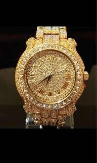 emperor's swarovski full crystal watch
