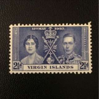 Stamp - Virgin Islands 1937 - Coronation (MNH)