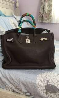 Hermes Birkin 35 Cafe color clemence