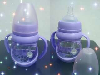 Glass Bottle purple colour 150ml