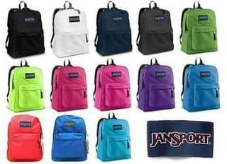 Authentic Jansport Bags direct from supplier for Men & Women