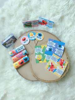 Customised Sesame Street party items