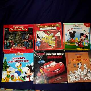 9 bigger disney books for age 3 to 6 years old