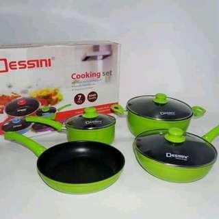 Dessini Cooking Set Panci Masak Komplit Isi 7 Pcs