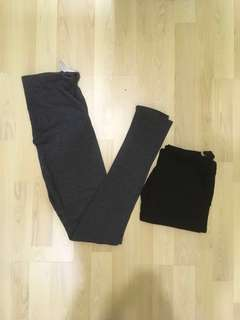 Maternity Legging (Grey & Black 2pc)