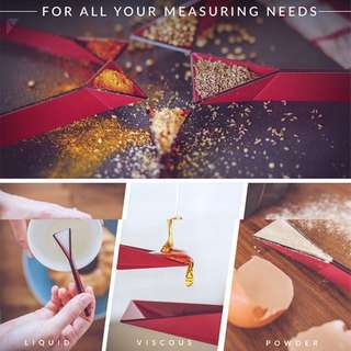 Polygons - The Flat 4-in-1 Measuring Spoon Set