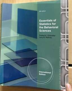 Essentials of Statistics for the Behavioural Sciences