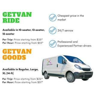[CHEAP TRANSPORTATION!!] GetVan Goods and Passenger services 24/7