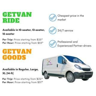 [CHEAP TRANSPORTATION!!] GetVan Goods and Passenger services 24/7