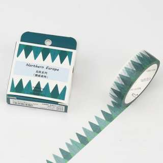 Northern Europe Triangle Trees Washi Tape