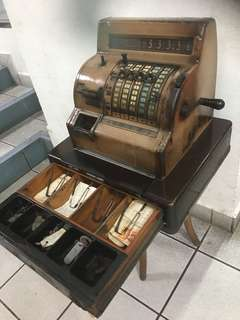 1960's cash register ( light grey ) .. National