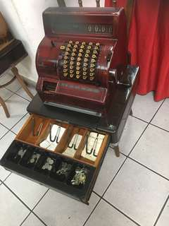 1960's cash register ( brown colour)