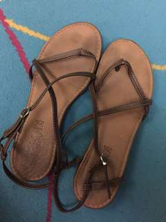 Authentic Spanish brown leather sandals