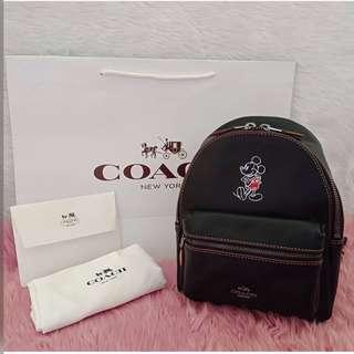 Coach mini backpack x Disney Mickey