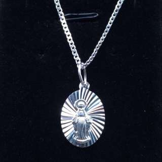 925 Mama Mary Necklace