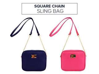 Square Chain Sling Bag