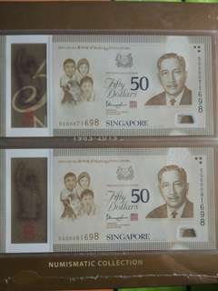 Sg50 $50 Near identical number  1698 . Limited Commerative  issues