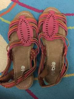 Brand New Multicolored Leather sandals