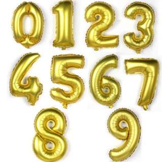 🚚 (In Stock)Foil Number Balloon