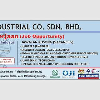 Job Vacancy / Kerja Kosong