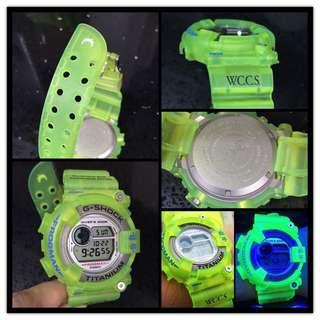 WCCS Frogman  螢光黃 G Shock 中古品 ,95%中古品,凈錶,有正常使用痕跡,不合完美人仕