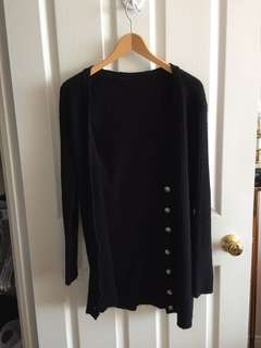 Women's comfy black cardigan oversized fit