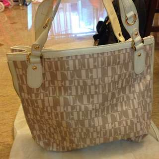 Elle Pale Pink, White And Gold Tote with purse