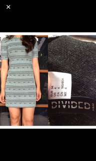 divided h&m bodycon