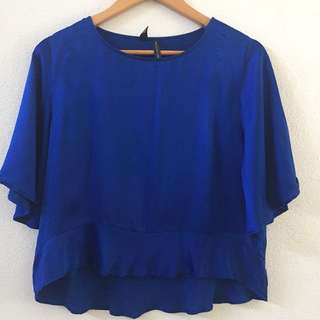 Mango Collection Blue Blouse